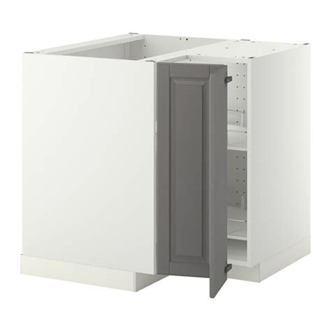 porte coulissante meuble cuisine metod élément bas angle rgt pivotant blanc bodbyn gris