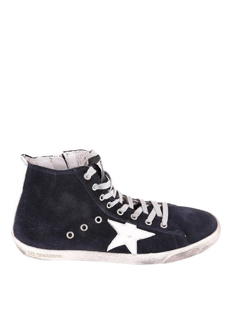 High Top by Golden Goose Francy High Top Suede Sneakers Trainers