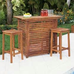 acacia wood outdoor bar furniture home design ideas