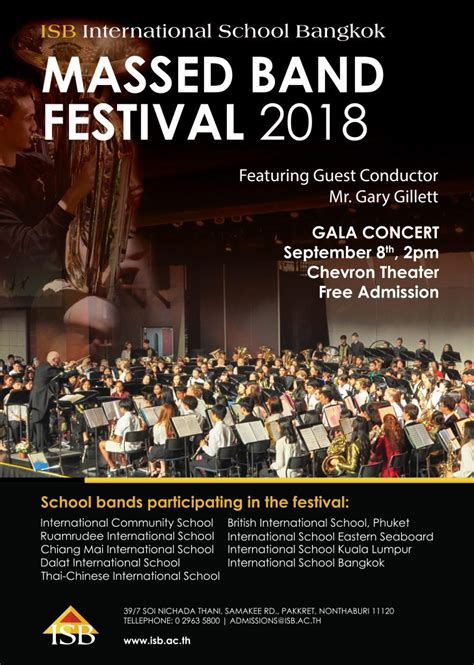 join massed band festival gala concert isb parent portal