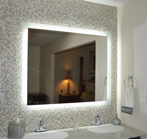lighted wall mirror lighted vanity mirrors wall mounted mam94836 48 quot wide x
