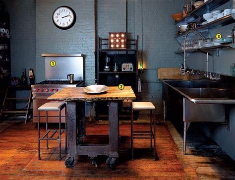 industrial kitchen island designs  retro