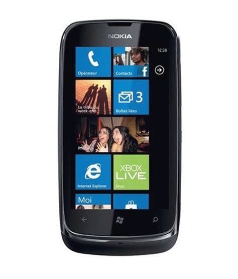 nokia lumia 610 8gb black mobile phones at low prices snapdeal india