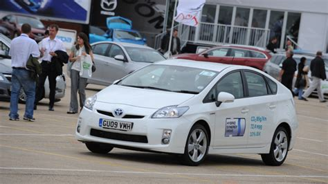 toyota car company prius shines at company car in action toyota