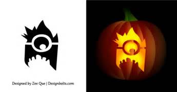 Minion Pumpkin Carving Easy by Free Simple Amp Easy Pumpkin Carving Stencils Patterns For