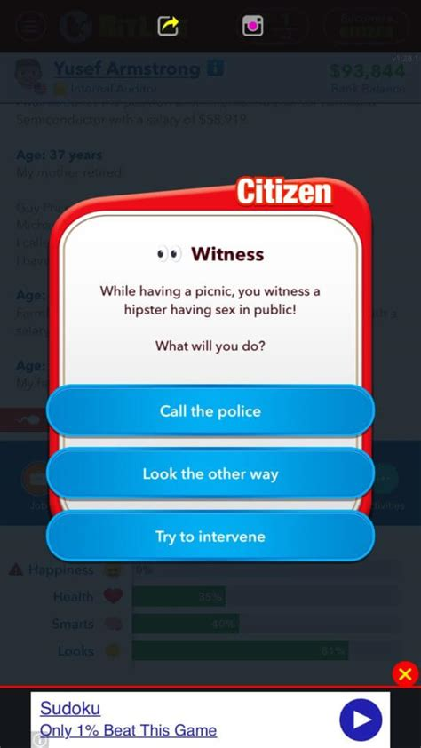 bitlife app play student should users say social
