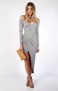 robe epaule denudee style asymetrique With robe epaule dénudée