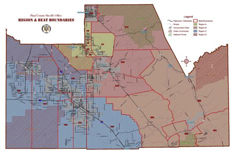 bureau line office region map pinal county