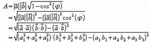 Vektorprodukt Berechnen : der radikand wird ausmultipliziert und umgeformt ~ Themetempest.com Abrechnung