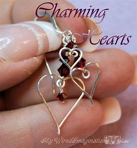 Wire Wrap Hearts  Wire Jewelry Tutorial  Charms  Earrings
