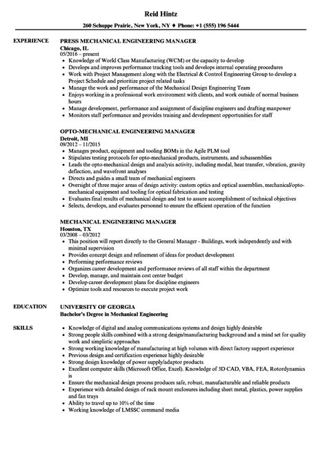 engineering manager resume exles engineering manager