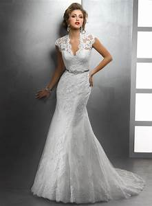 2015 vestidos elegant design v neck cap sleeve appliqued With lace mermaid wedding gown