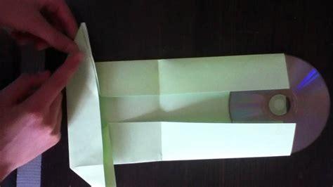 fabriquer une pochette cd en papier pliage pochette cd
