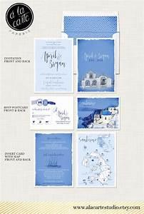 destination wedding invitation set santorini greece greek With european destination wedding invitations