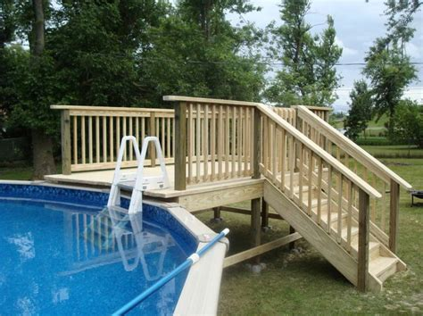 Above Ground Swimming Pool Steps Deck by 1000 Ideas About Above Ground Pool Ladders On