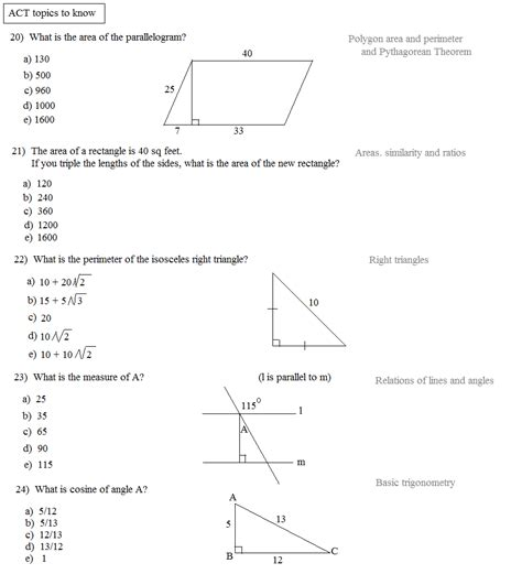 Act Math Practice Problems Worksheet Pdf  Act Math Logarithms Kaplan Test Prepact Practice