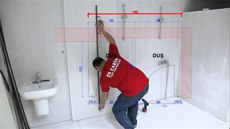 installing shower es kabin installation of compact laminate toilet partition