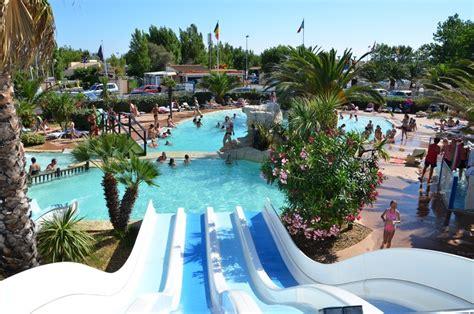 piscine et toboggans camping le m233diterran233e valras plage