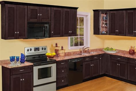 kitchens with espresso cabinets timber newport espresso kitchen cabinets bargain 6616