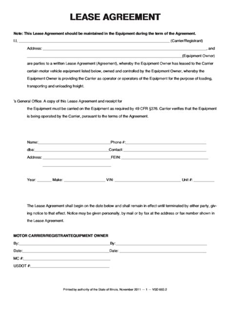 fillable lease agreement printable