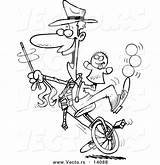 Unicycle Template Coloring sketch template