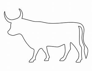 Bull pattern. Use the printable outline for crafts ...