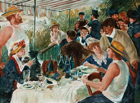 Synopsis Of Luncheon Of The Boating Party by Meeting Around A Boat