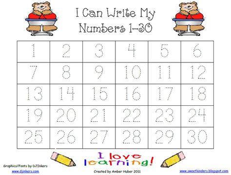 kindergarten worksheets numbers