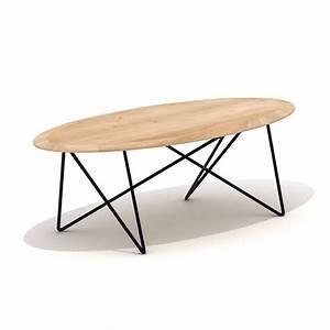 Table Basse Grande : grande table basse ovale table en ch ne et m tal orb ~ Teatrodelosmanantiales.com Idées de Décoration