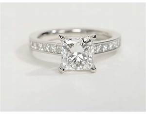 2.1 Carat Diamond Princess Cut Channel Set Diamond ...