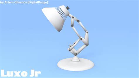 luxo jr free vr ar low poly 3d model obj cgtrader com