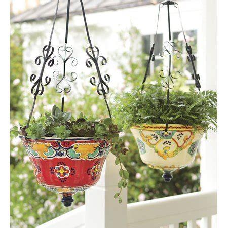 ceramic hanging planter hanging talavera ceramic planter in walmart