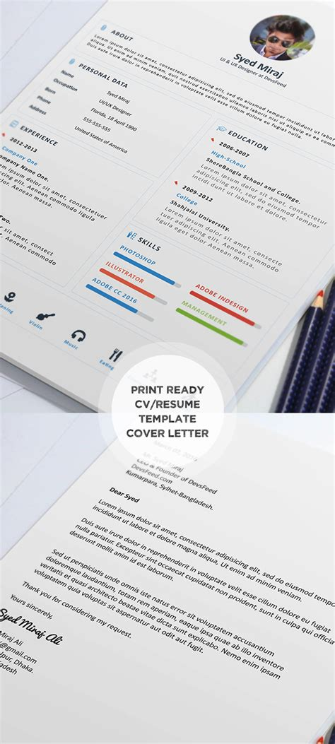 Free Psd Print Ready Resume Template by 20 Free Cv Resume Templates Psd Mockups Freebies Graphic Design Junction
