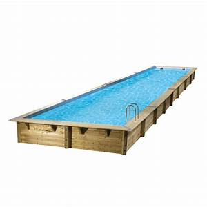 Piscine Bois Ubbink : piscine bois linea ubbink 350x1550cm h 155cm liner bleu sable ~ Mglfilm.com Idées de Décoration