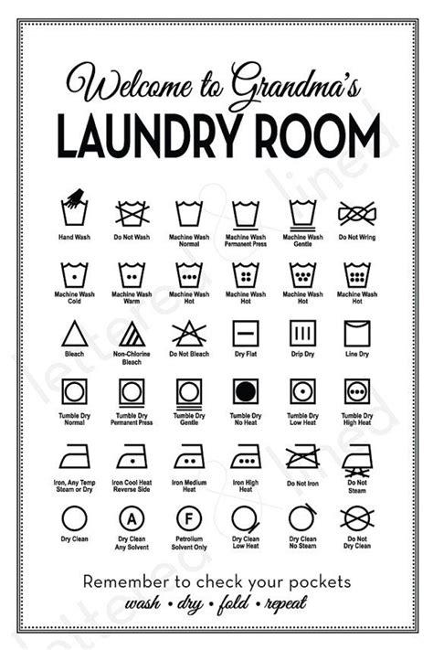 customizable laundry symbols print personalize guide