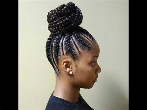 cornrows  ponytail african braids hairstyles  youtube
