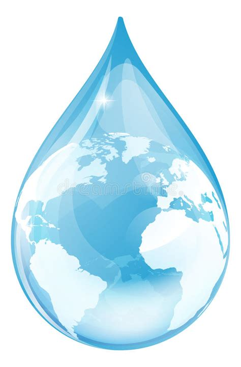clear plans water drop globe stock vector illustration of droplet