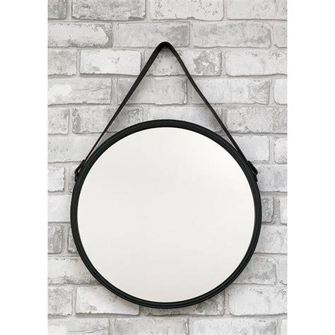 spiegel rund schwarz wandspiegel spiegel schwarz rund mit eco leder g 252 rtel zum