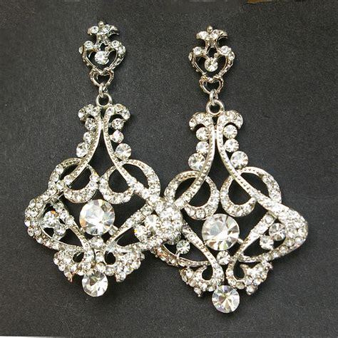 chandelier bridal earrings vintage wedding earrings