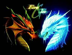 Fire & ice dragons | Dragons (: | Pinterest