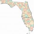 Printable Florida Map | FL Counties Map