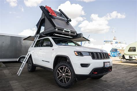 jeep grand cherokee roof top tent turning a 2017 jeep grand cherokee trailhawk into the