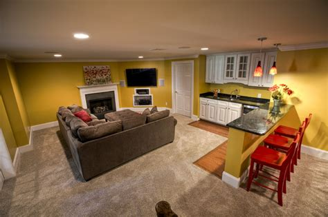 finished basement malvern traditional basement