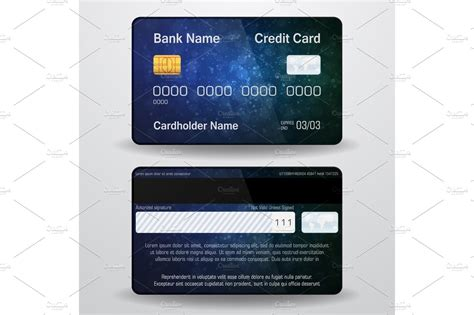detailed realistic vector credit card front   side