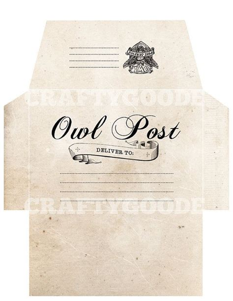 Harry Potter Envelope Template by 19 Best Images About Owl Post Gringotts On