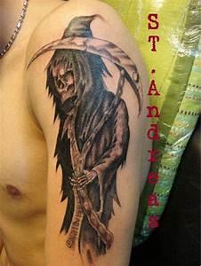 shinigami/reaper tattoo