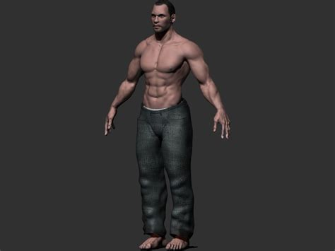 Male Character 3d Model Game Ready .obj .ztl