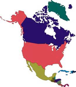 Printable North America Continent