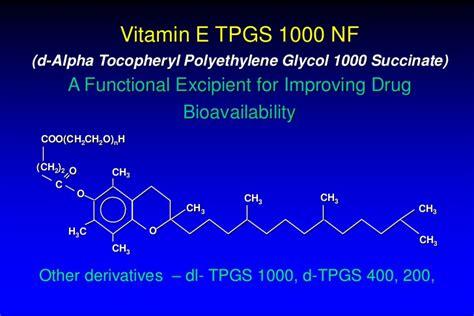 Vitamin E TPGS Story