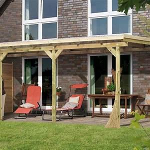 toit de terrasse bois massif autoclave karibu 433x363cm With toit terrasse en bois